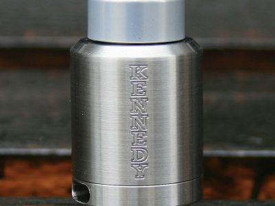 KENNEDY(ケネディ) ANODIZED ALUMINUM FAT DRAGON TIP(ドリップチップ)Silver