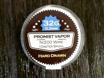 PROMIST VAPOR HARD DRAWN Ni200ニッケルワイヤー 32G(10Mスプール巻)0.2mm