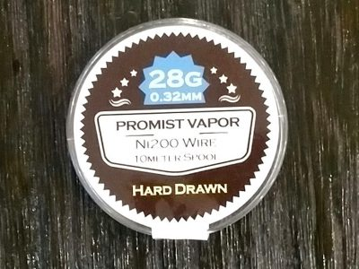 PROMIST VAPOR HARD DRAWN Ni200 wire 28G 0.32mm